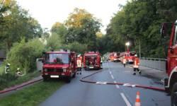 Die Feuerwehren an der Einsatzstelle