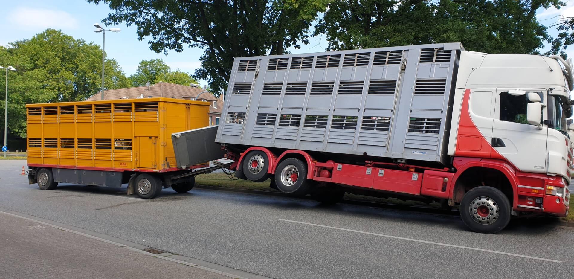 Gelöste Laderampe lässt LKW abheben