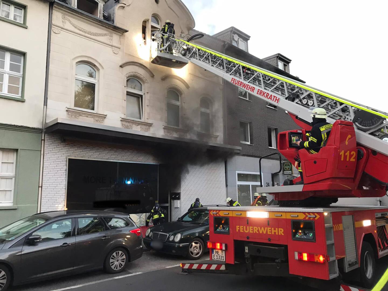 Feuerwehr ERkrath: Einsatzstelle Kirchstraße