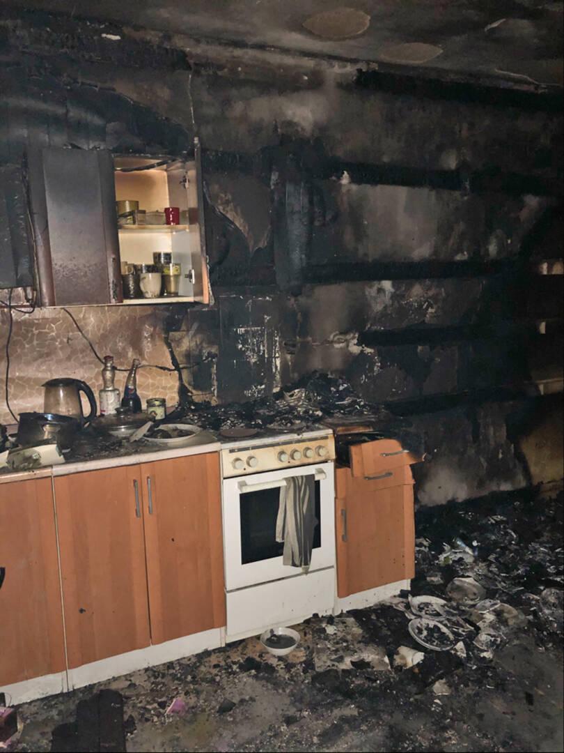 Die ausgebrannte Küche