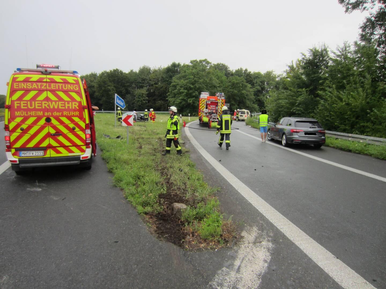 Verkehrsunfall A40 Ausfahrt Dümpten