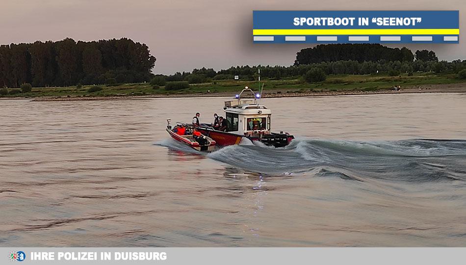 Sportboot in Seenot