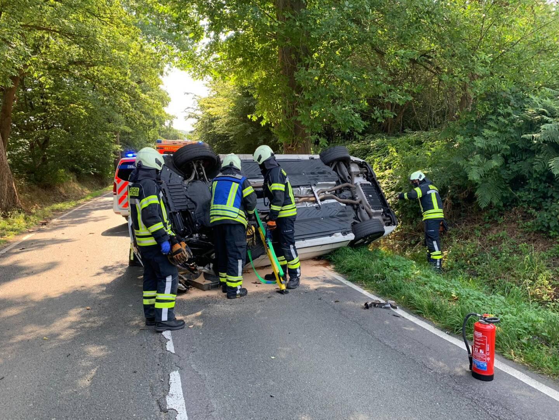 Gesichertes Unfallfahrzeug