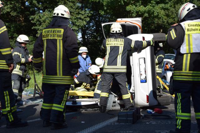 Rettung nach Verkehrsunfall