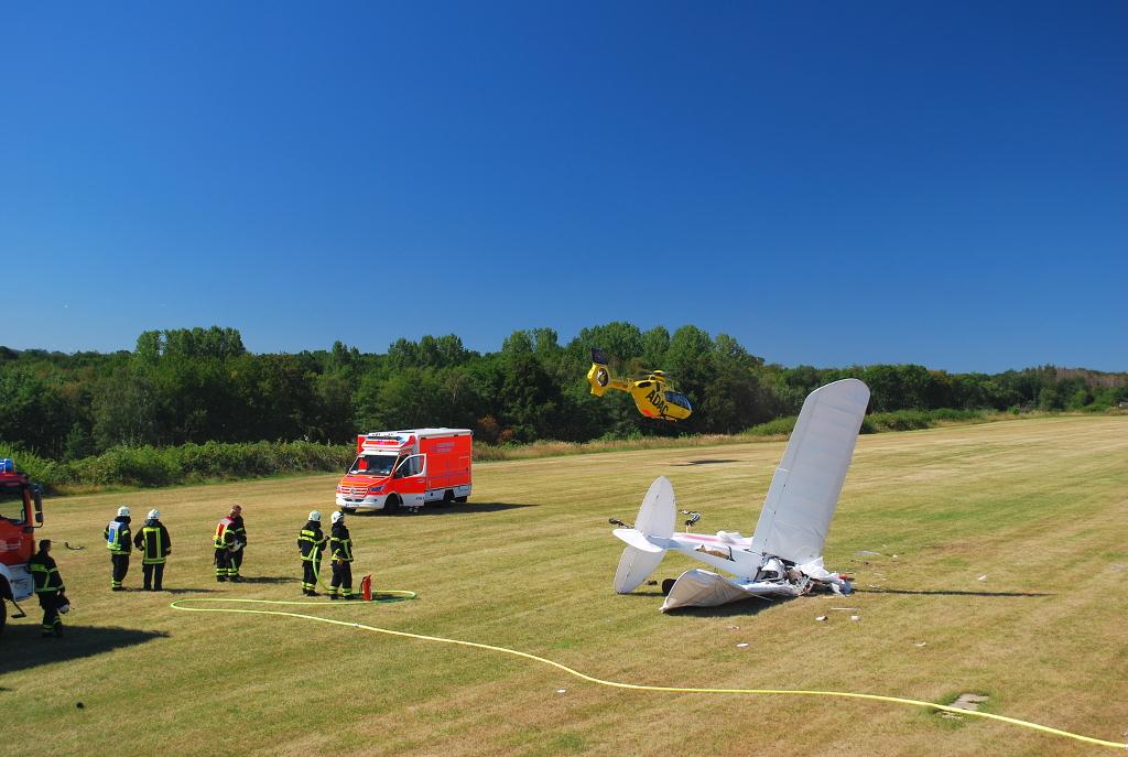 Abgestürztes Ultraleichtflugzeug