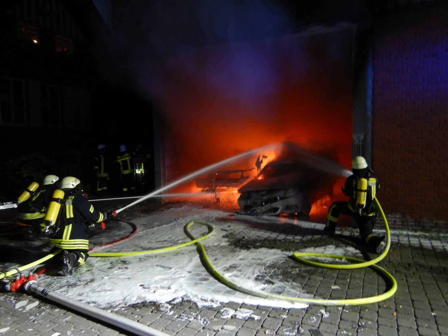 Brand in Remise
