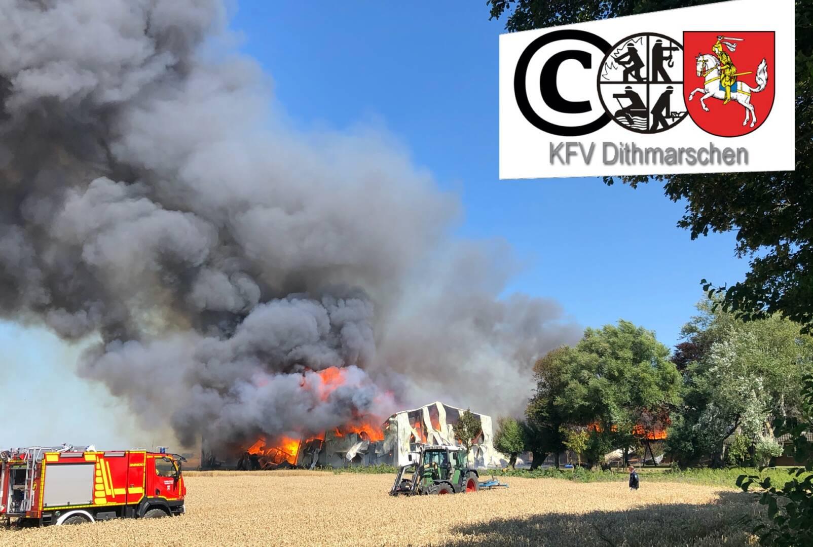 Feuer auf landwirtschafltichen Betrieb