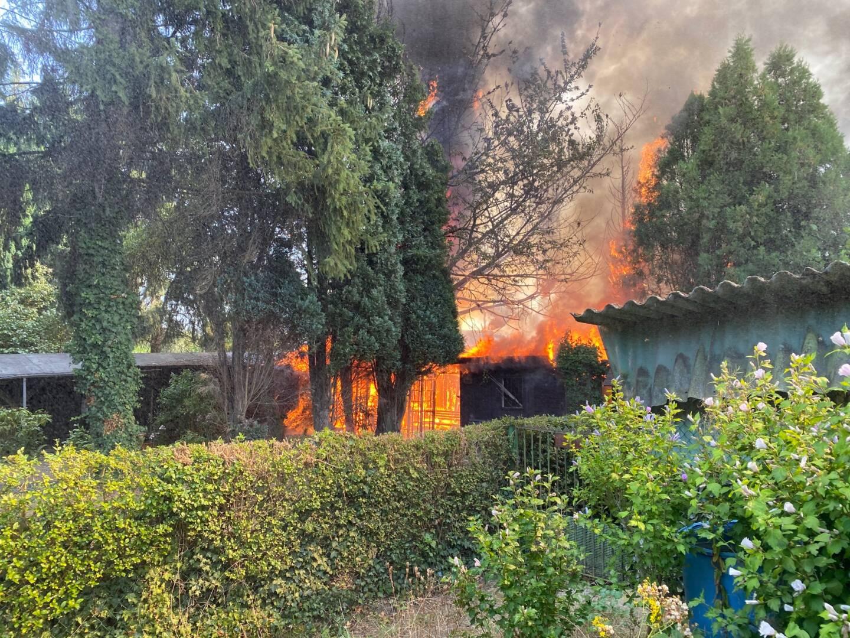 Kleingarten brennt
