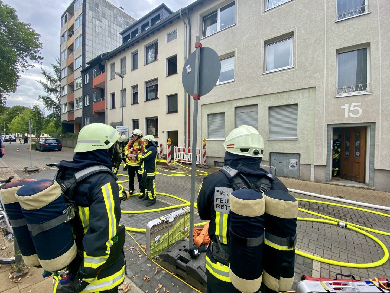 Kellerbrand in Innenstadt