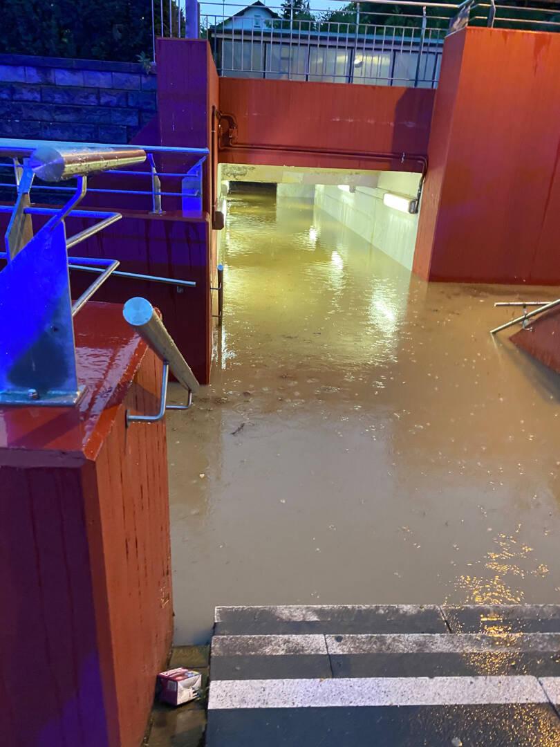 Überflutung nach Unwetter