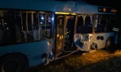 Beschädigter Autobus