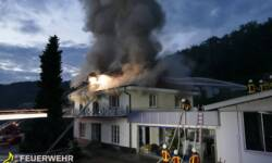 Gebäudebrand in Stockach