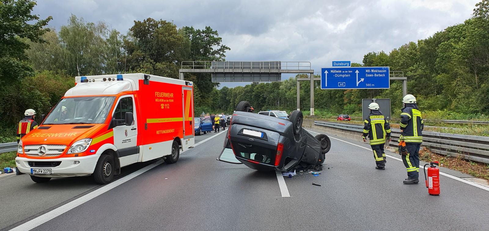 Verkehrsunfall auf A40