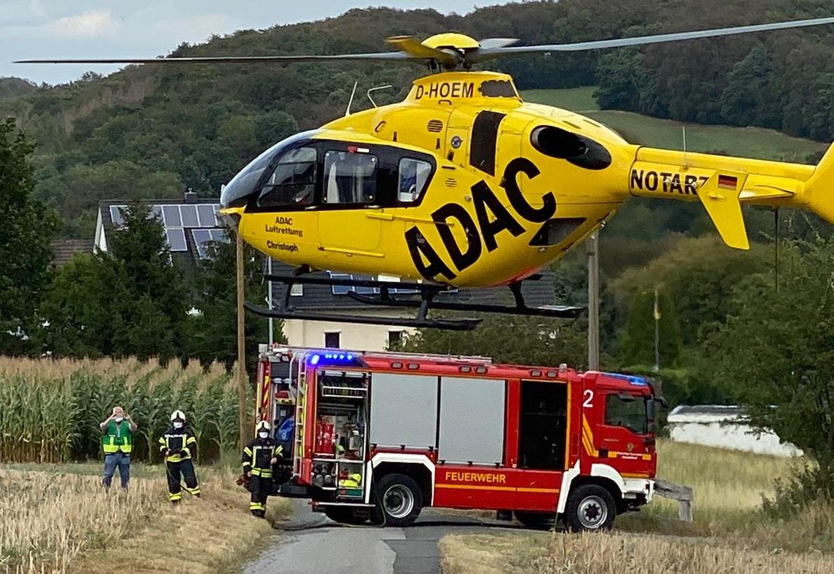 Landung Rettungshubschrauber
