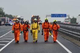 Verkehrsunfall mit radioaktivem Material