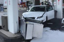 Unfall in Tankstelle