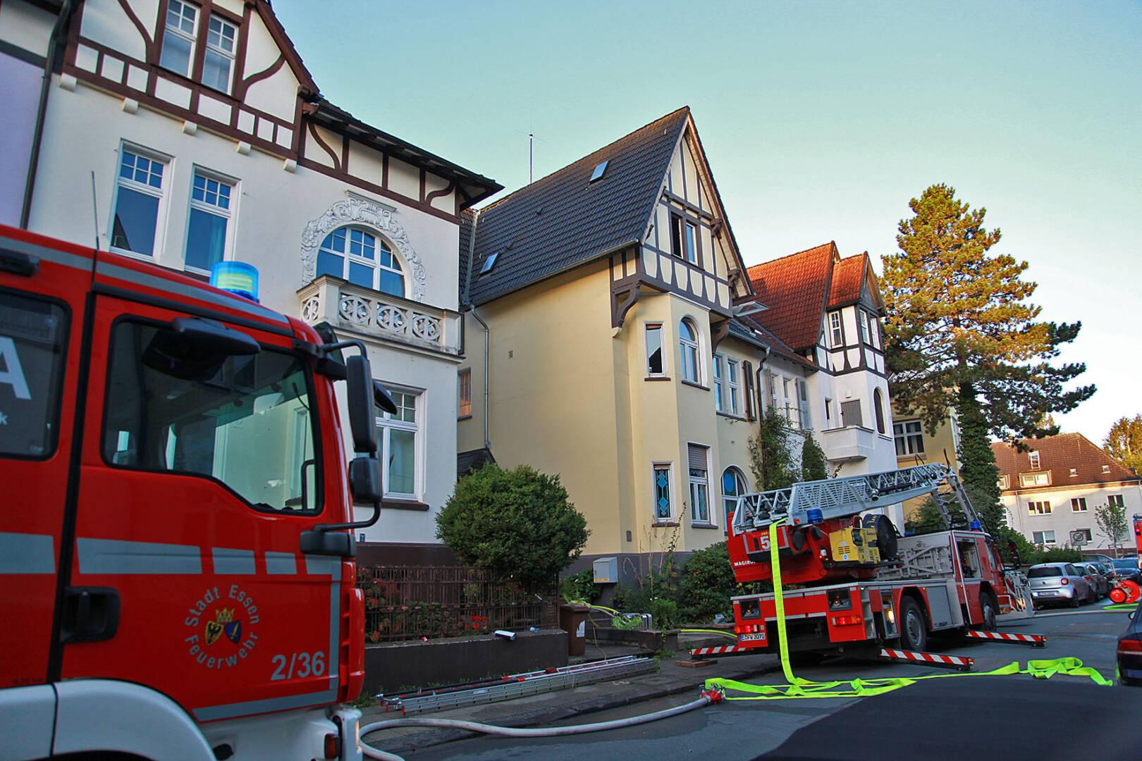 Brand in Dachgeschoss