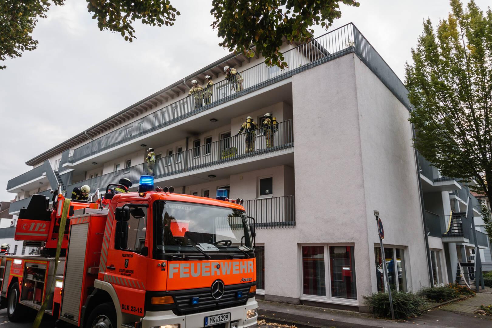 Brand in Mehrfamilienhaus